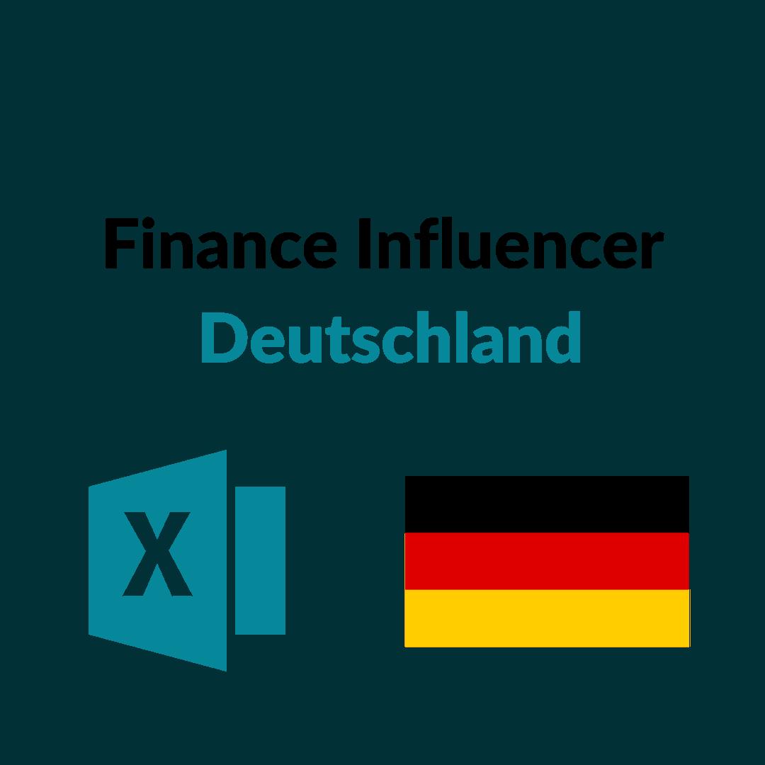 Liste Finance Influencer Deutschland